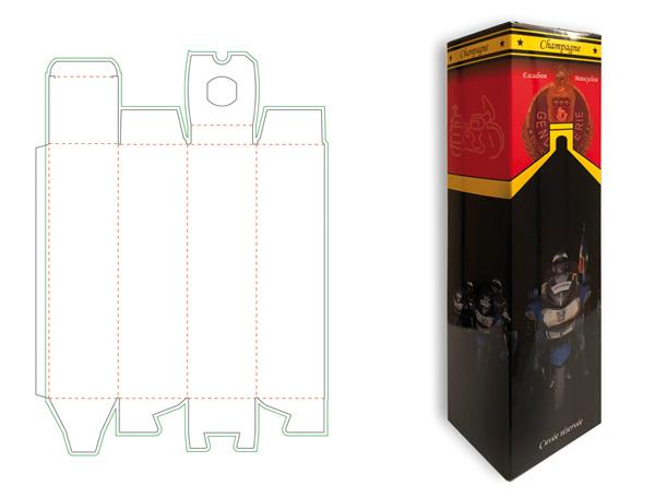 emballage imprimé personnalisé pour bouteilles