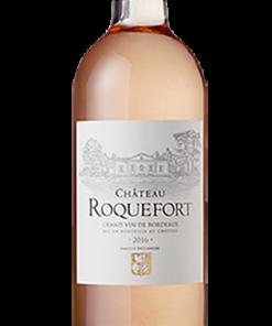 Etiquette vin perso Bordeaux Rose Chateau Roquefort